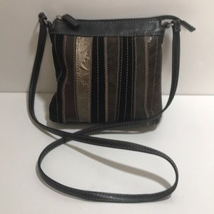 Fossil Purse Gold Copper Embossed Leather Purse